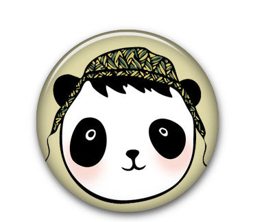 "Panda Cap 1"" button"