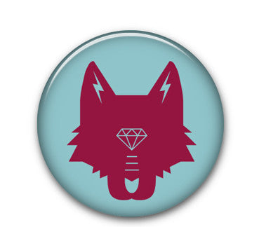 Wolf Head (maroon/blue)