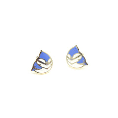 Toronto Jay Enamel Earrings