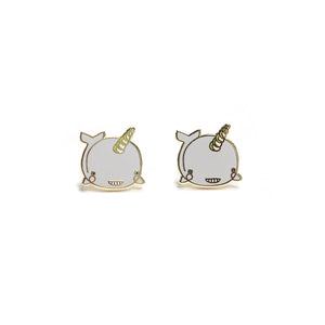 Narwhal Enamel Earrings