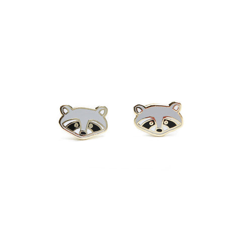 Toronto Raccoon Enamel Earrings