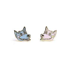 Teen Wolf Enamel Earrings