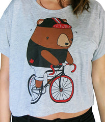 Fixie Bear Crop Top