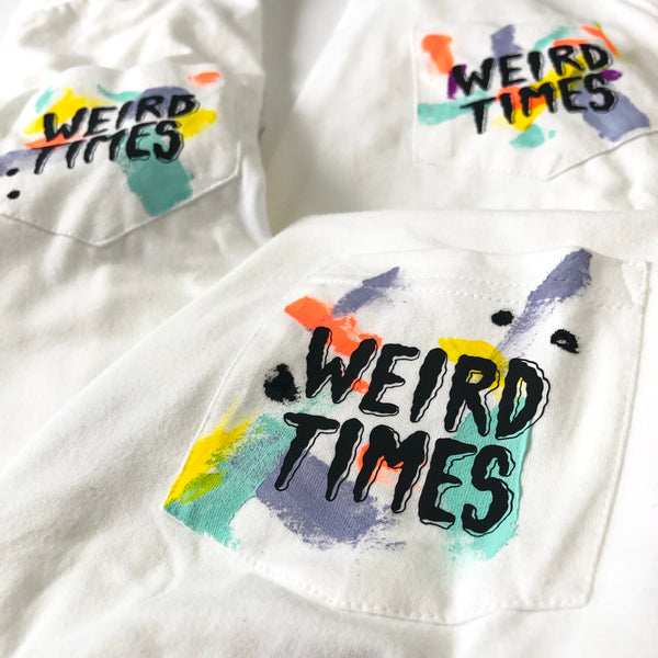 Weird Times Pocket Tshirt