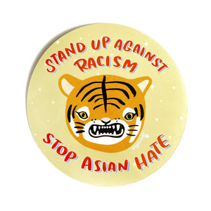 Stop Asian Hate Tiger Sticker