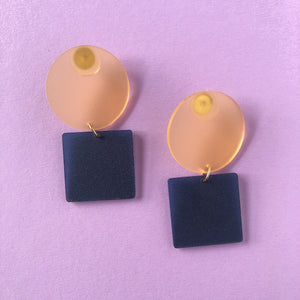 Circle Square Earrings