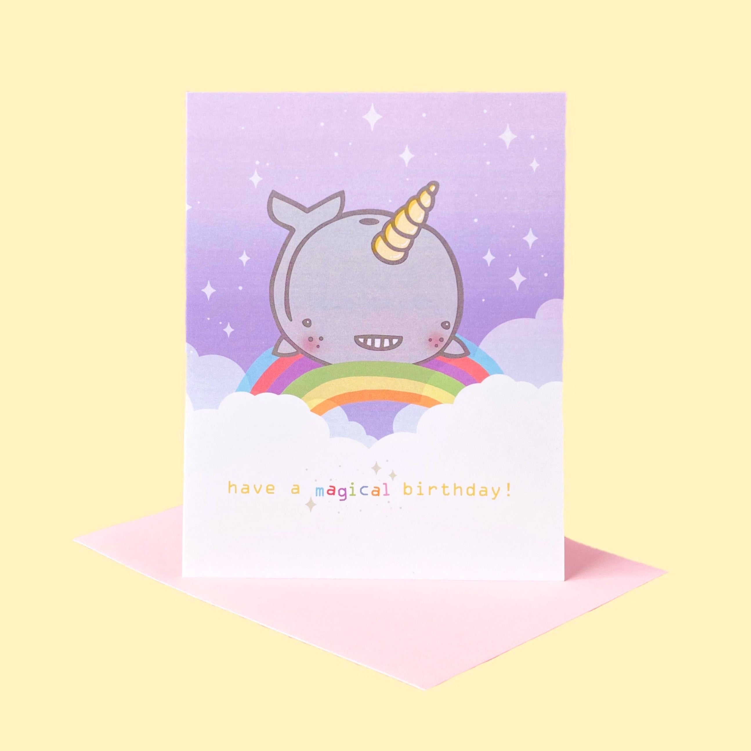Magical Narwhal Birthday Card