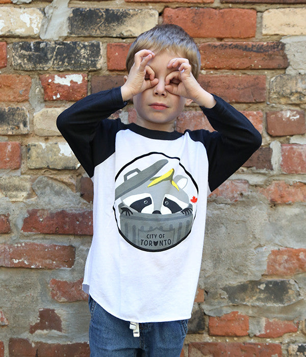 Kids Toronto Raccoon Baseball Tee