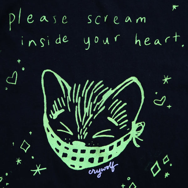 Scream Inside Your Heart Kitty Oversized Tee