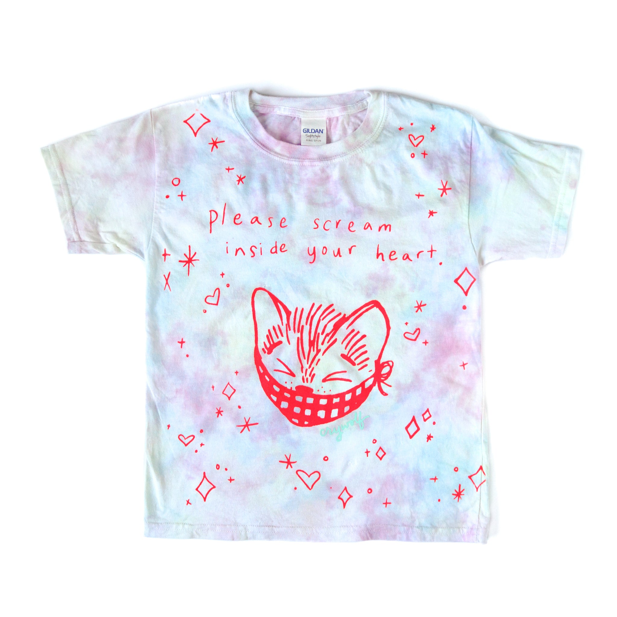 Kids Scream Inside Your Heart Kitty Tee
