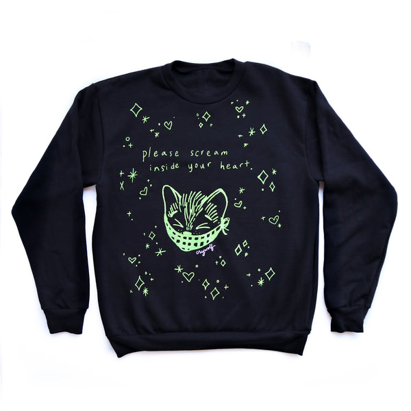 Scream Inside Your Heart Kitty Sweatshirt