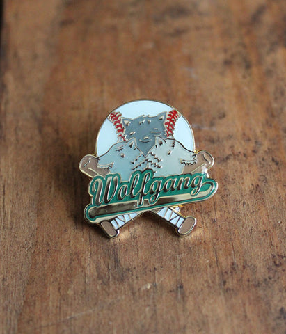 Wolfgang Baseball Lapel Pin