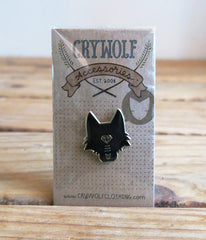 Wolf Head Lapel Pin