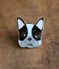 Boston Frenchie Lapel Pin