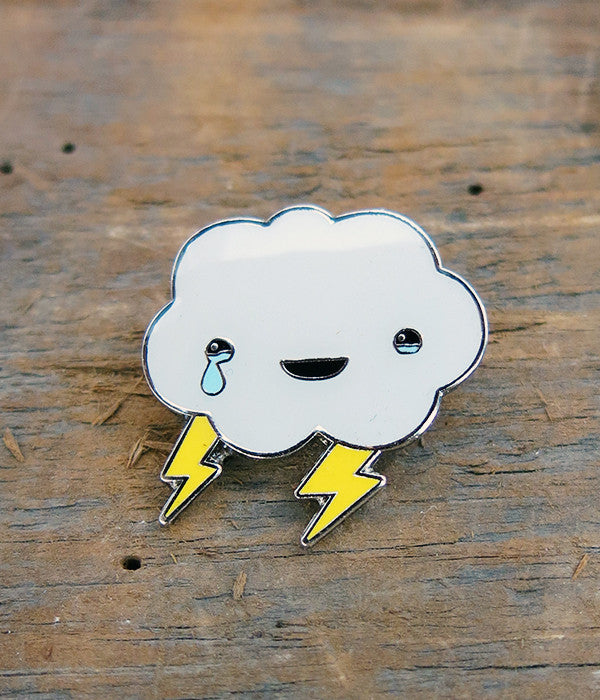 Happy Healing Cloud Lapel Pin
