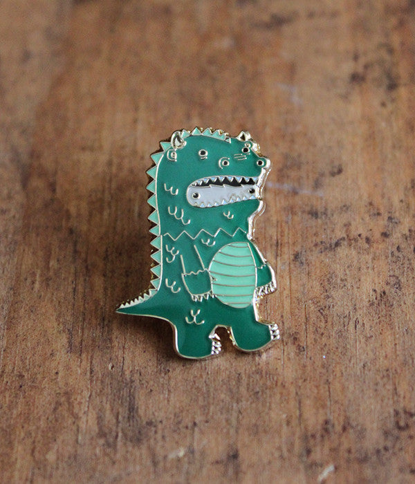 Dragon Wolfe Lapel Pin