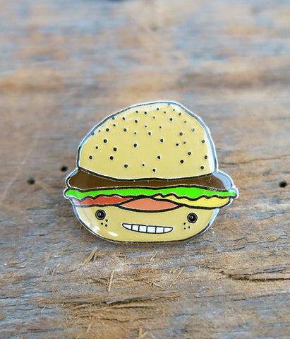 Hammy Burger Lapel Pin