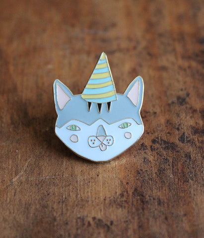 Party Cat Lapel Pin
