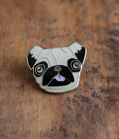 Pugsly Pug Lapel Pin