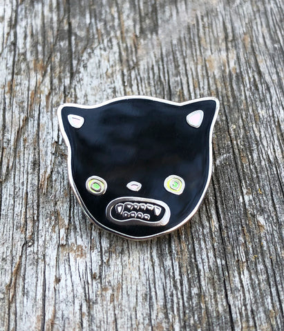 Scaredy Cat Lapel Pin