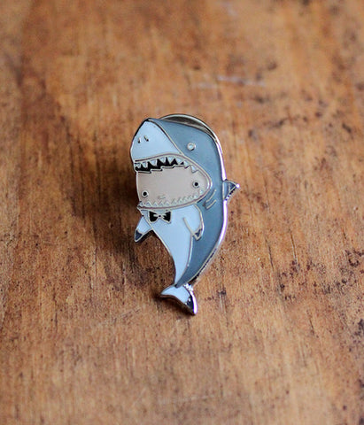 Shark Boy Lapel Pin