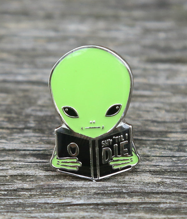 Shy Guy Alien Lapel Pin