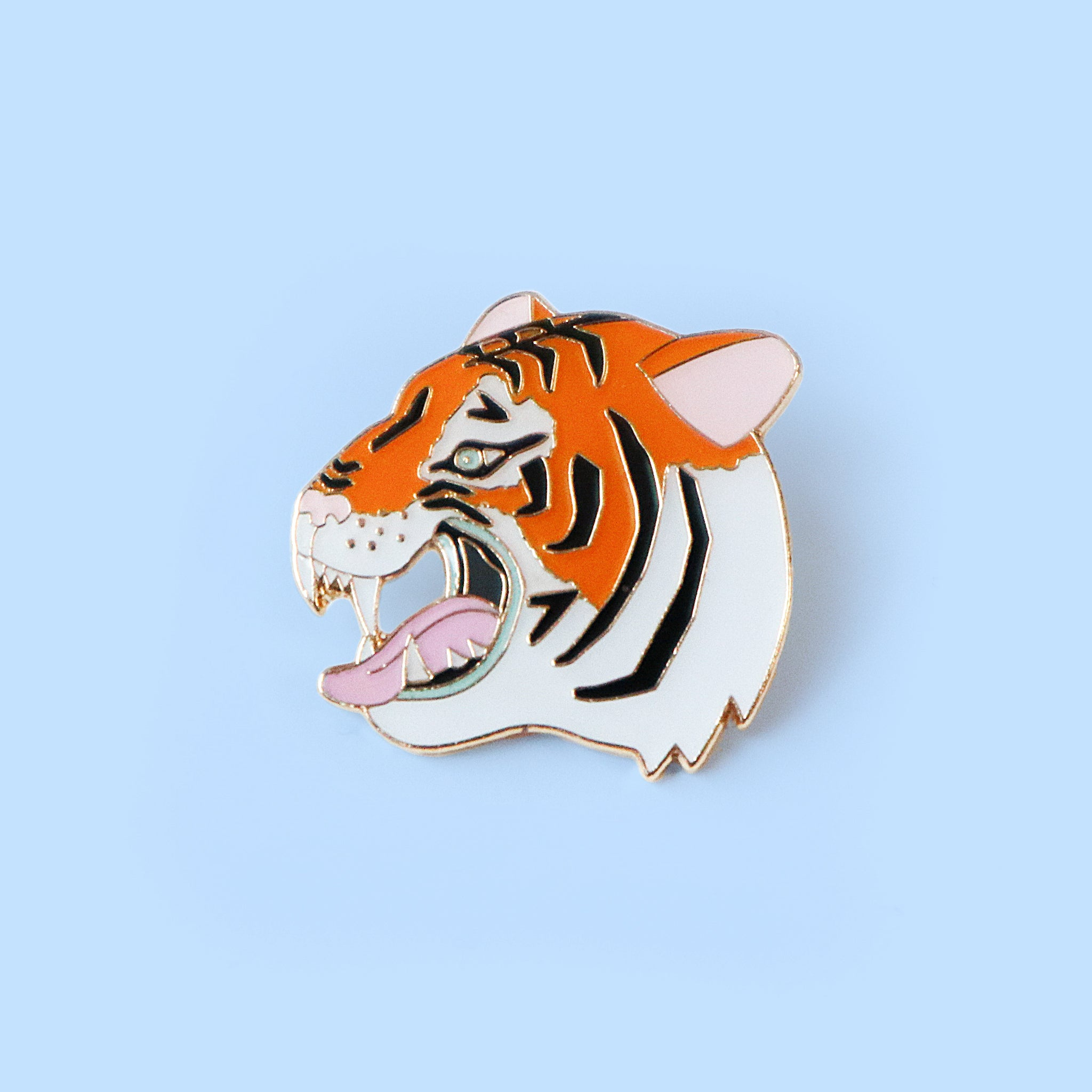 Tiger Heart Lapel Pin