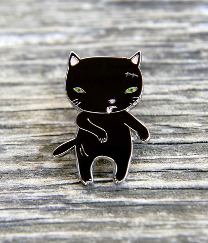 Zombie Cat Lapel Pin