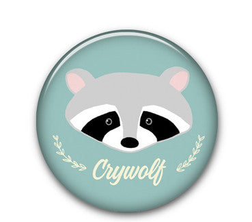 "Raccoon cw 1.25"" button"