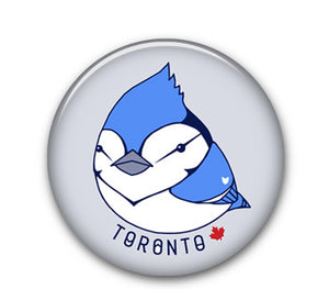 "Blue Jay 1.25"" button"