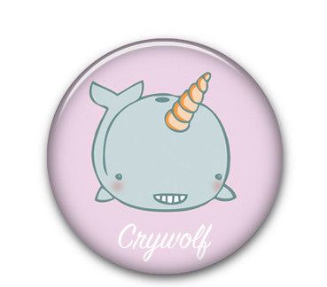 "Narwhal cw 1.25"" button"