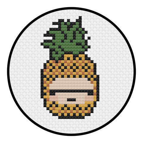 Pineapple Cross Stitch Pattern