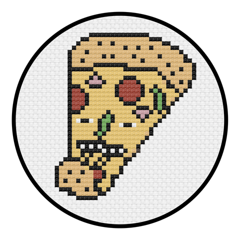Pizza Party Cross Stitch Pattern