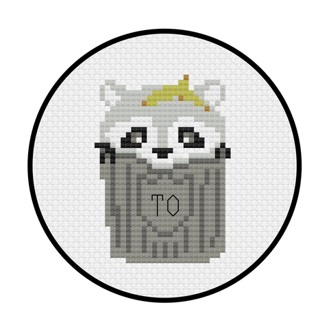 Toronto Raccoon Cross Stitch Pattern