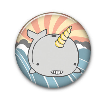 "Narwhal 1"" button"