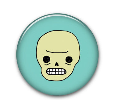 "Awkward Skull 1"" button"