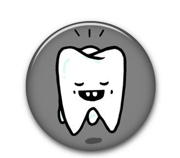 "Tooth 1"" button"