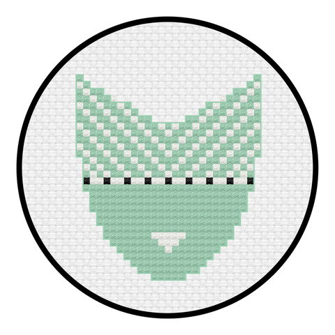 Stripe Logo Cross Stitch Pattern