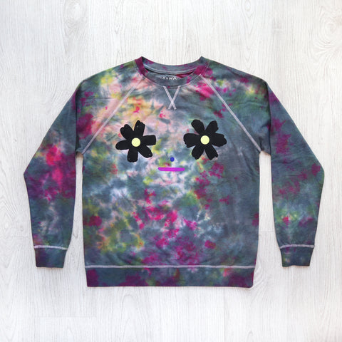 Flower Bomb Tie Dye Light Sweatshirt