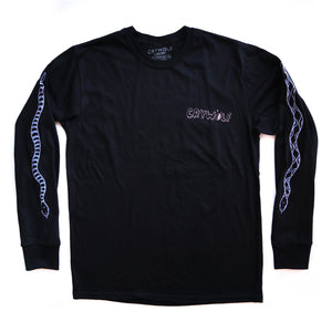Snake Long Sleeve Shirt - Black