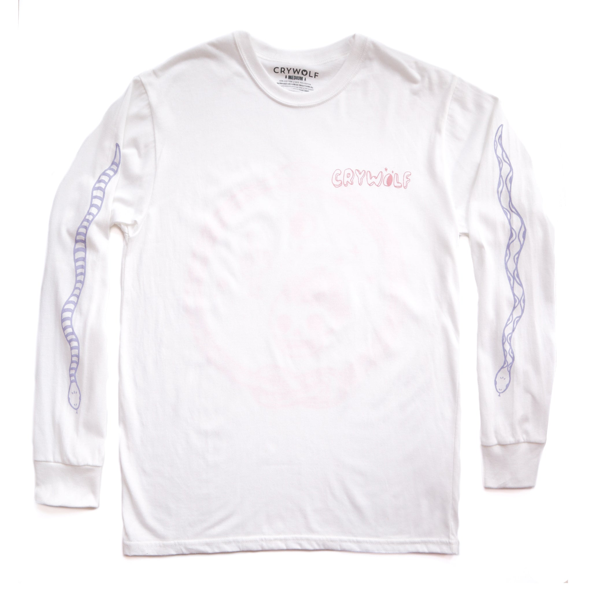 Snake Long Sleeve Shirt - White
