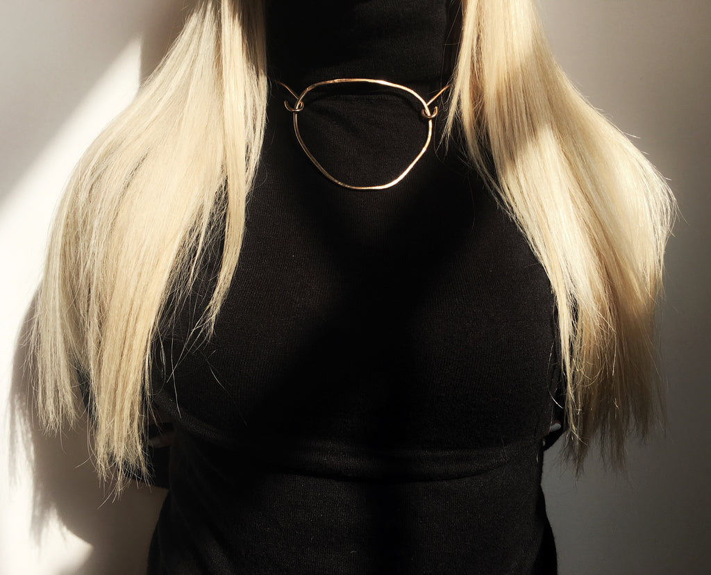 14k Gold Fill Suspend Choker