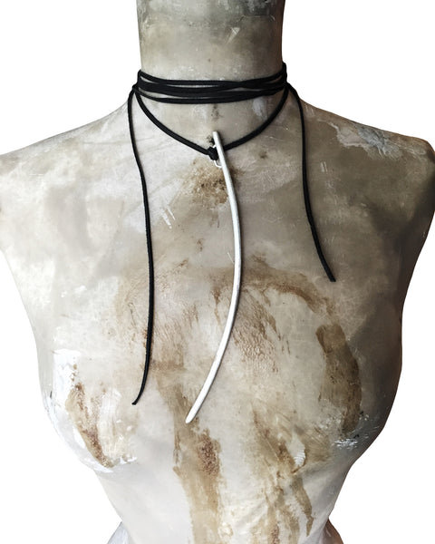 SPIRE on LEATHER CHOKER - WOLF + SADIE
