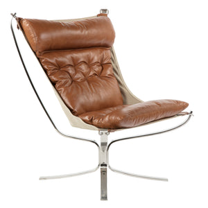 Bowery Sling Chair - Cognac Premium Leather