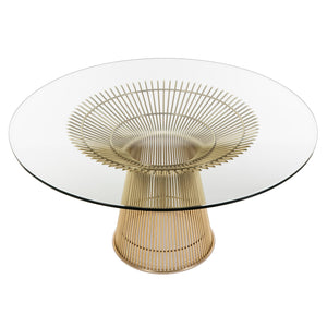 "Platner Dining Table in Gold 54"" Round"