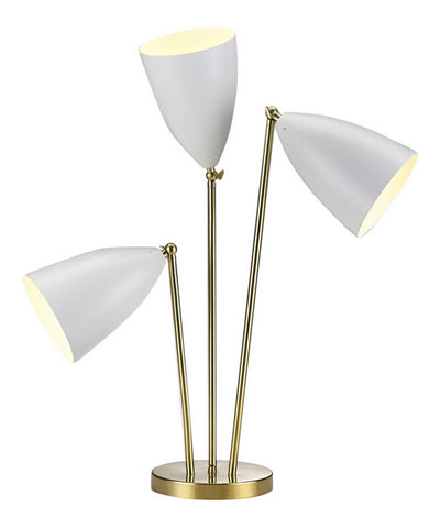 Madsen 3-Head Table Lamp-White