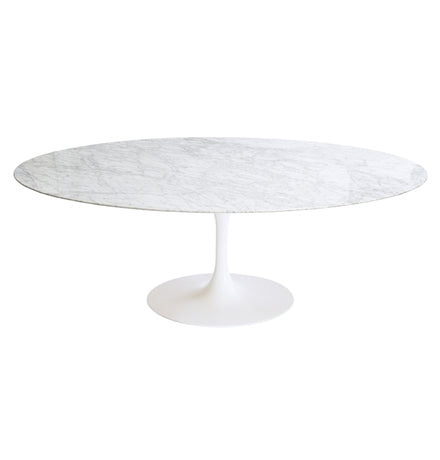 "Bloom Oval Marble Table - 79"" X 47"""