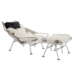 PP225 Flag Halyard Chair and Ottoman