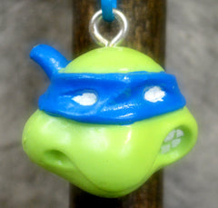 Blue Cartoon Turtle Key Chain