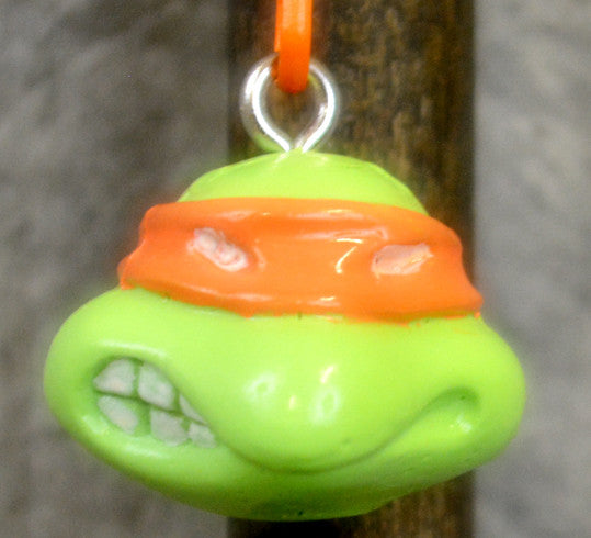Orange Cartoon Turtle Key Chain